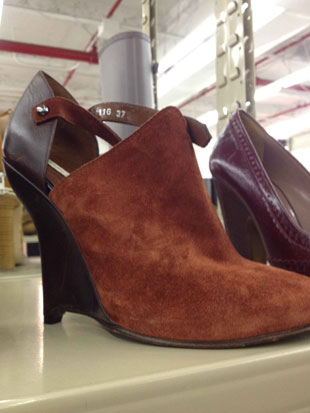 Opening Ceremony Brown Leather and Rust Wedges in Size 7 ($149)