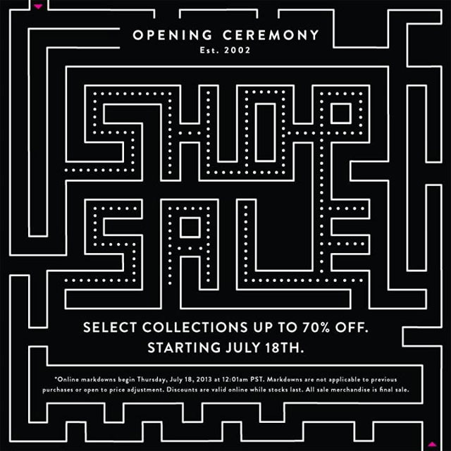 Opening Ceremony End-of-season Sale