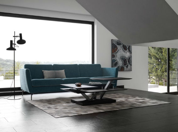 Osaka three-seat sofa in turquoise Napoli fabric WAS $2,542 NOW $1,271