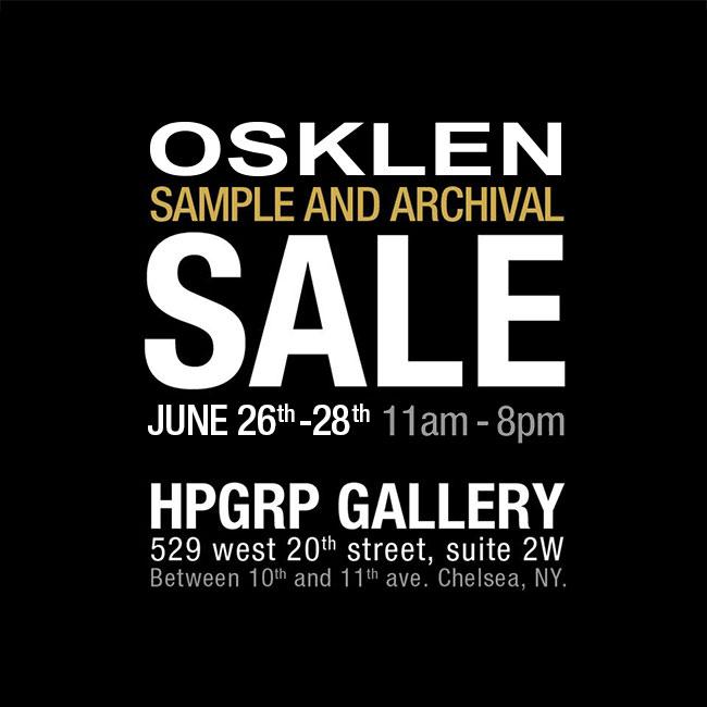 Osklen Sample & Archival Sale