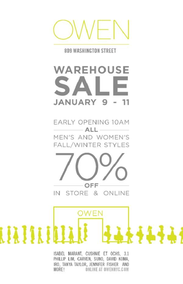 OWEN Warehouse Sale