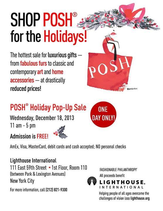 POSH Holiday Pop-up Sale
