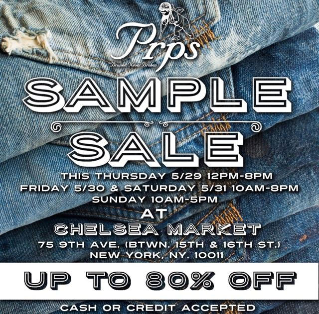 PRPS Sample Sale