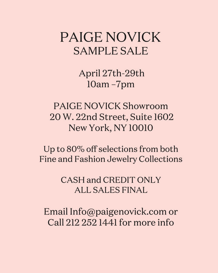 Paige Novick Sample Sale