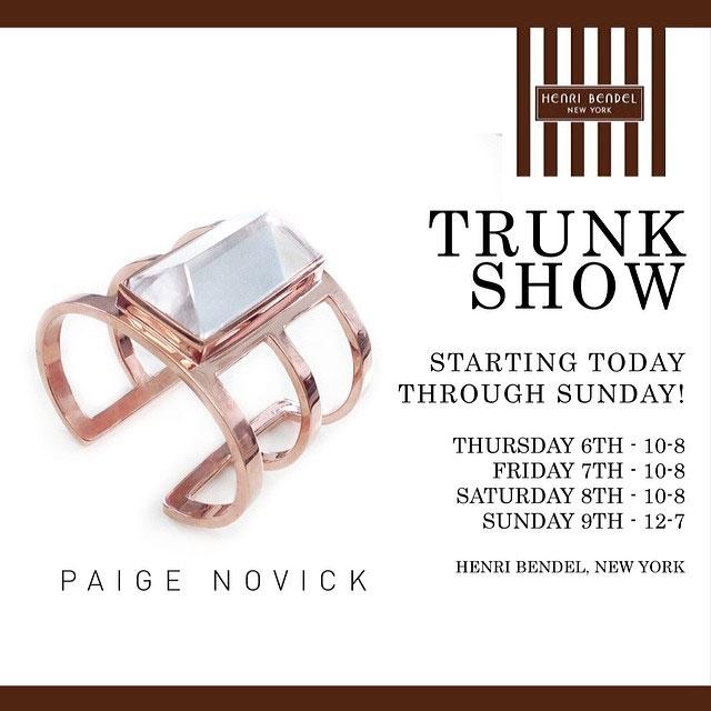 Paige Novick Trunk Show