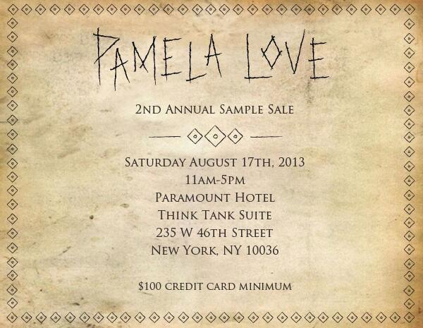 Pamela Love Annual Sample Sale