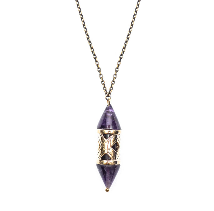 Pamela Love Stone Cutout Necklace: $100 (orig. $425)
