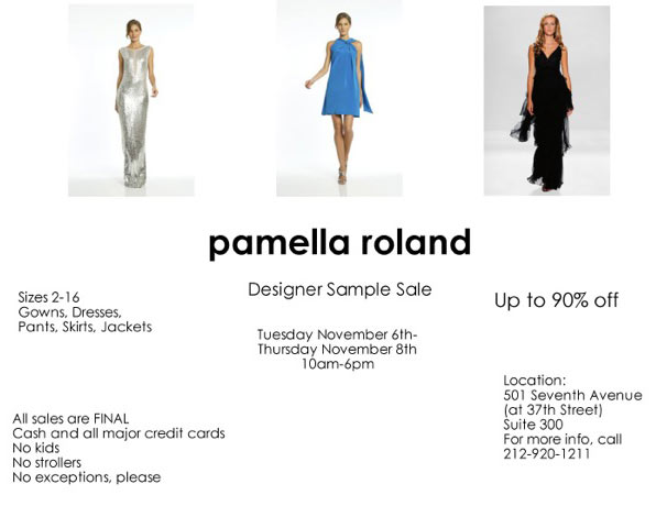 Pamela Roland Sample Sale