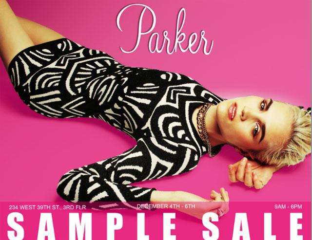 Parker Winter Sample Sale