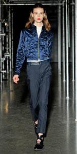 Women's runway sample quilted silk jacket is now $270, instead of $1200