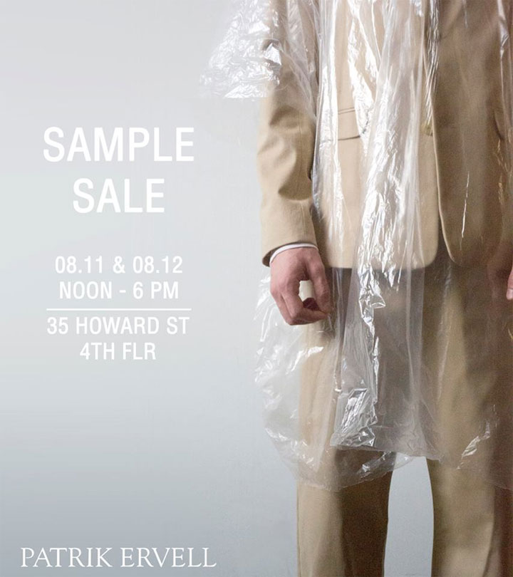 Patrik Ervell Sample Sale