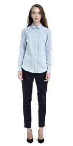 Women's denim shirt is now $75, instead of $310