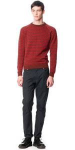 Men's lightweight pattern sweater in pima cotton is now $90, instead of $330