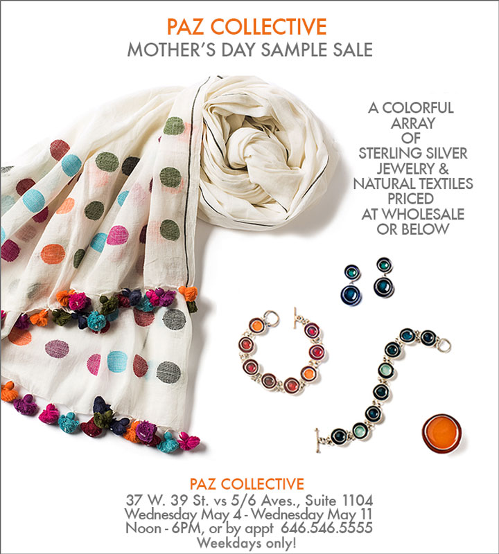 Paz Collective Mother's Day Sample Sale