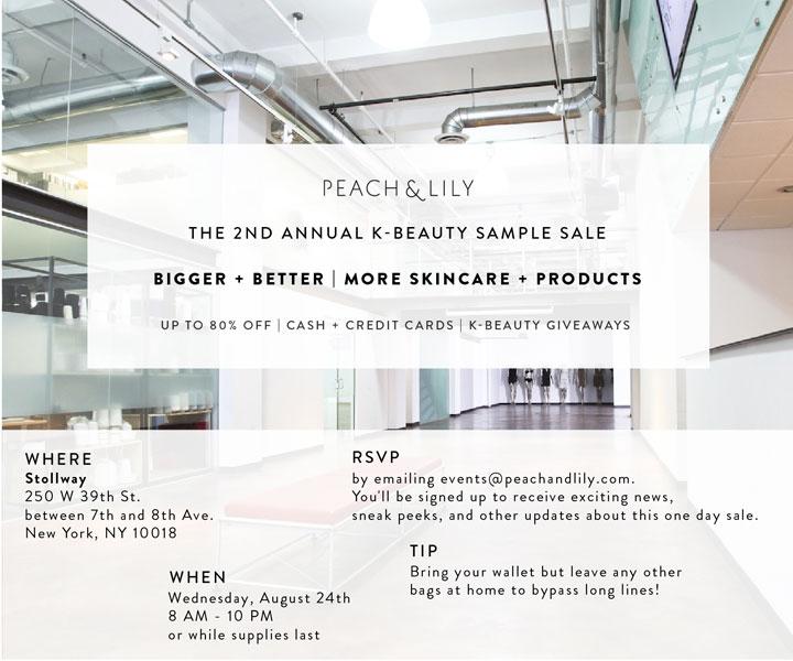Peach & Lily K-Beauty Sample Sale