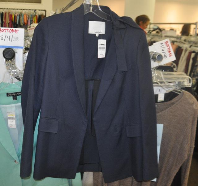 3.1 Phillip Lim Navy Blue Blazer w/ Shoulder Tie ($269, orig. $675)
