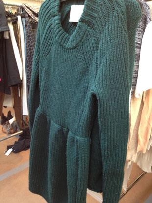 Thick emerald green sweater dress ($150)