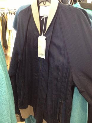 midnight blue zip track sweater ($150)