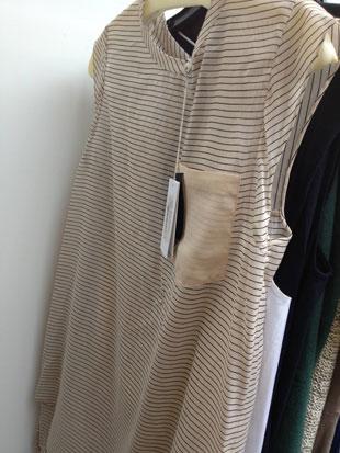 Nude pinstripe pocket top ($100, size 6)