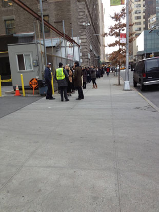 By 9:30AM lines swelled down the stretch of Spring Street and crawled around Varick