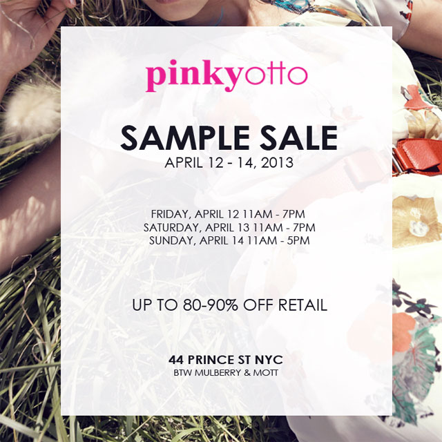 Pinkyotto Sample Sale