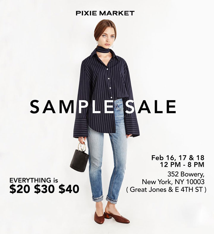 Pixie Market Sample Sale