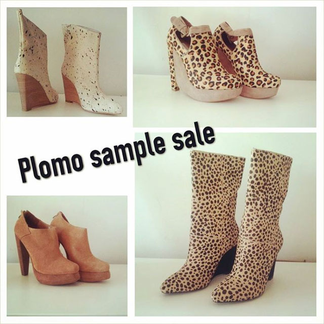 Plomo Shoes Sample Sale