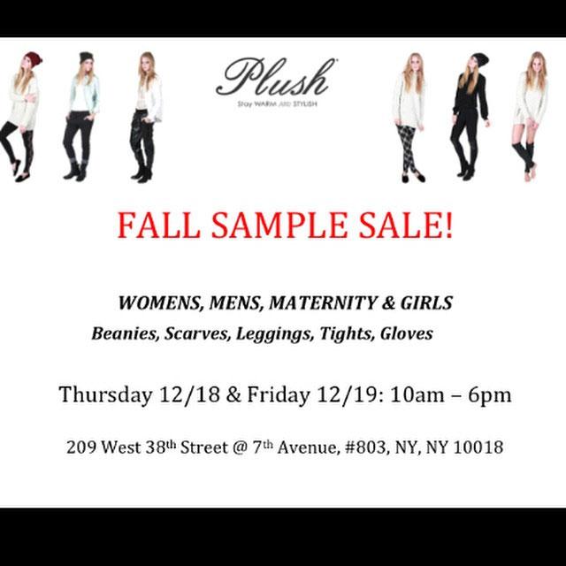 Plush Fall Sample Sale