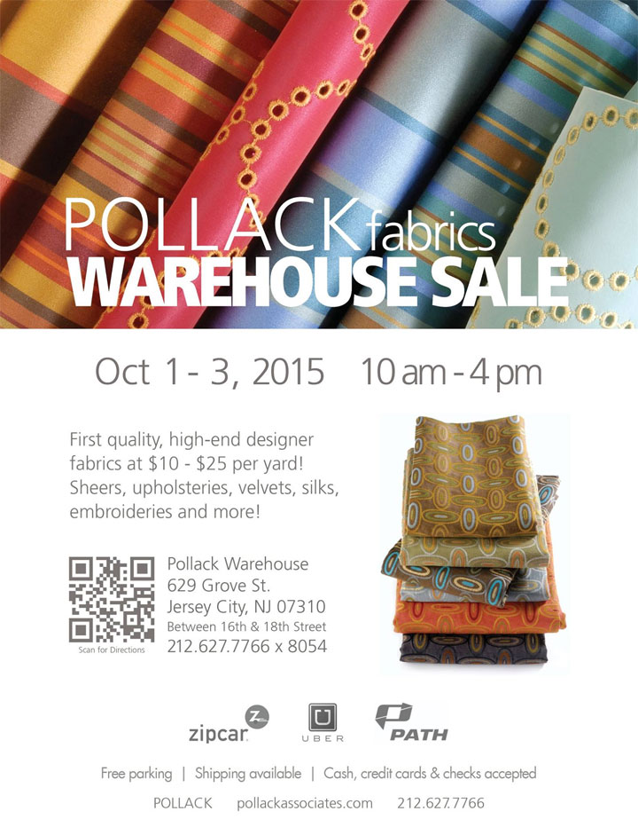 Pollack Fabrics Warehouse Sale