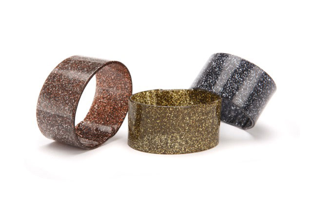 PONO Italian resin glitter bangles: $20 apiece (orig. $75)