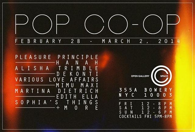 Pop Co-Op Sale