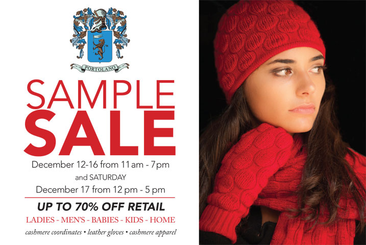 Portolano Sample Sale
