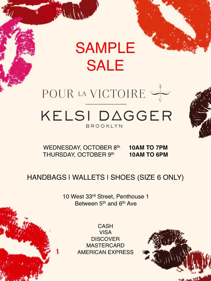 Pour La Victoire & Kelsi Dagger Sample Sale