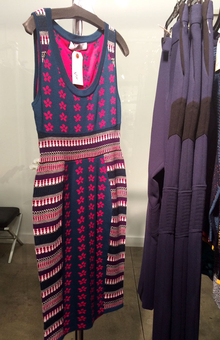 Patterned knit dress for $150, originally $1,195