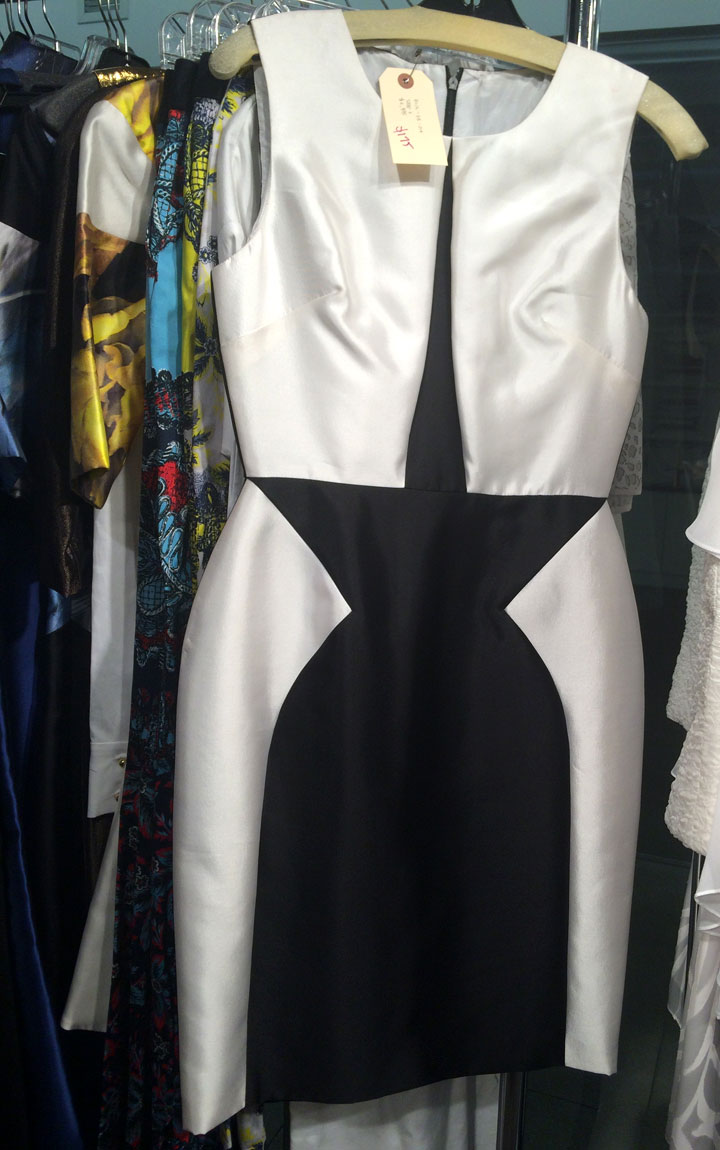 Sateen dress for $175, originally $2,895