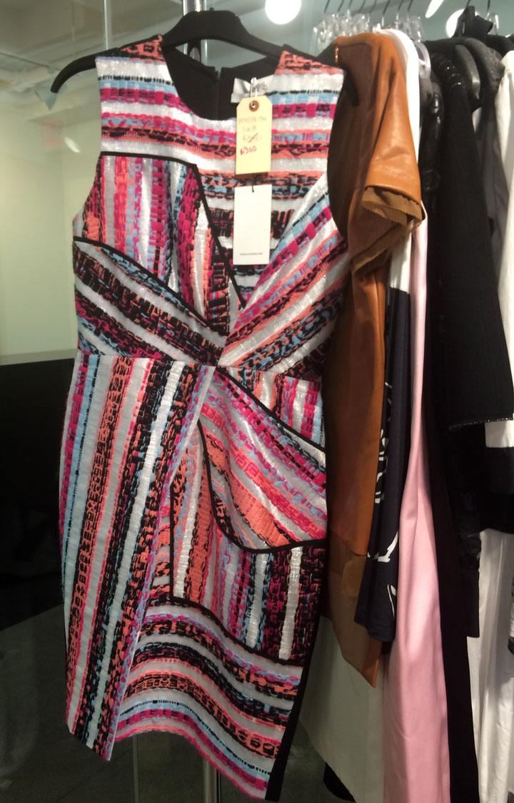 Multi-colored shift dress for $300, originally $2,850