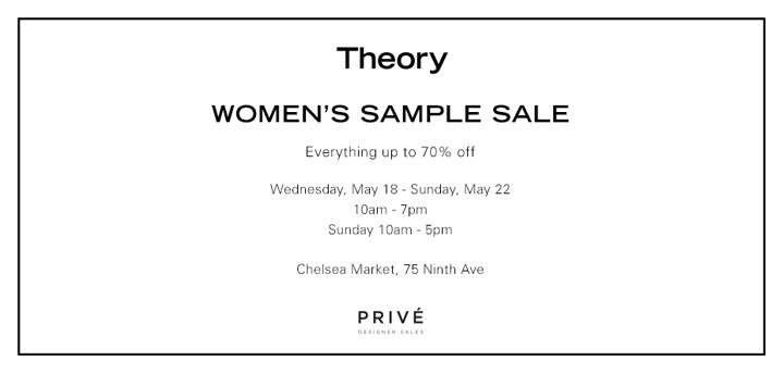 Theory Sample Sale