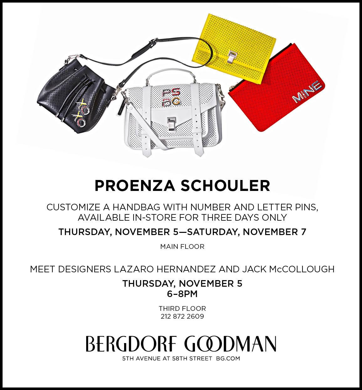 Proenza Schouler Handbag Customization Event