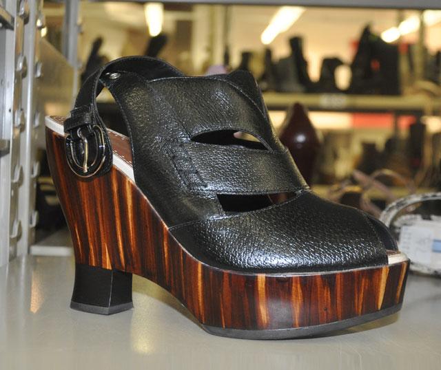 Proenza Schouler Wood Wedge Black Leather Platforms ($629, orig. $1,580, Size 9)