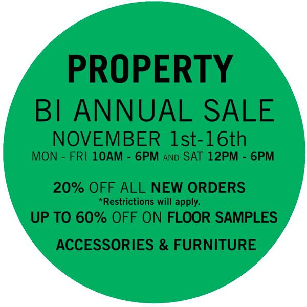 Property Bi-Annual Sample Sale