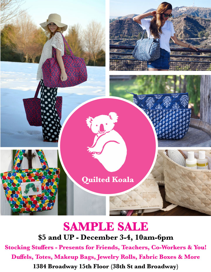 Quilted Koala Holiday Sample Sale