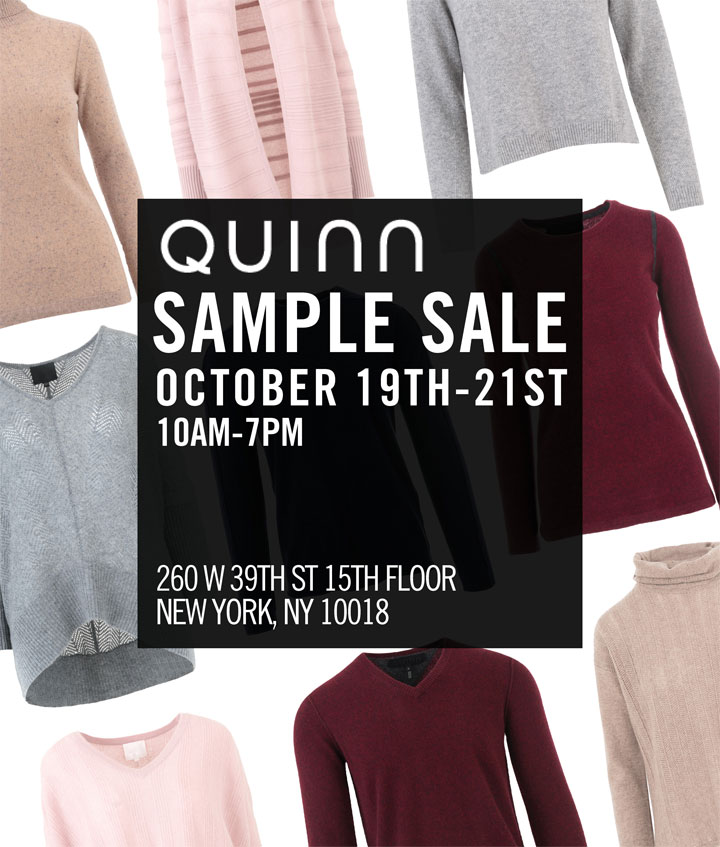 Quinn Fall Sample Sale