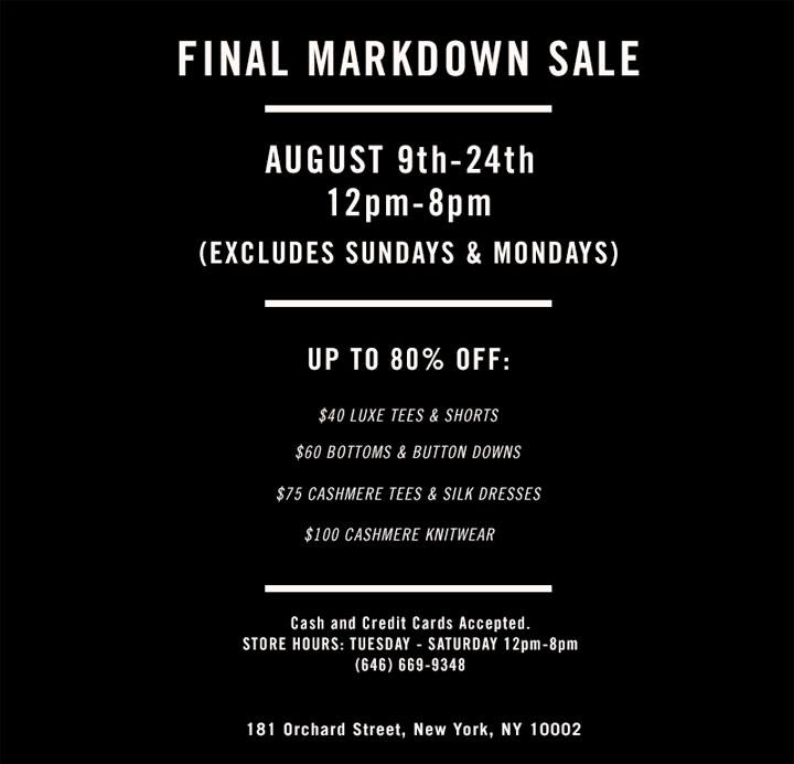 Quinn Final Markdown Sale