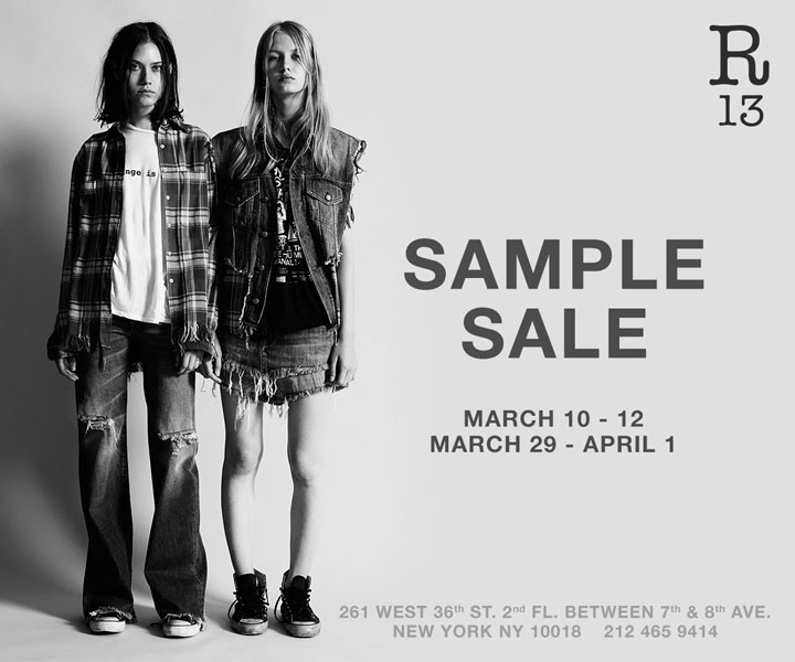 R13 x NLST Sample Sale