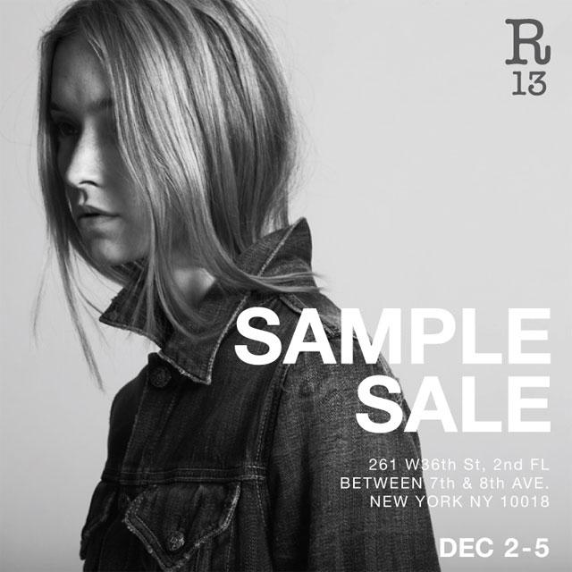R13 Sample Sale