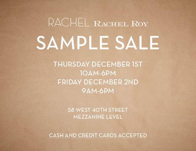 RACHEL Rachel Roy Sample Sale
