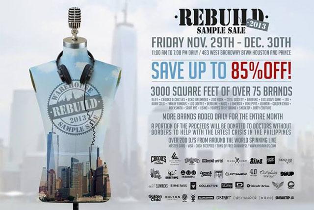 REBUILD 2013 Warehouse Sample Sale