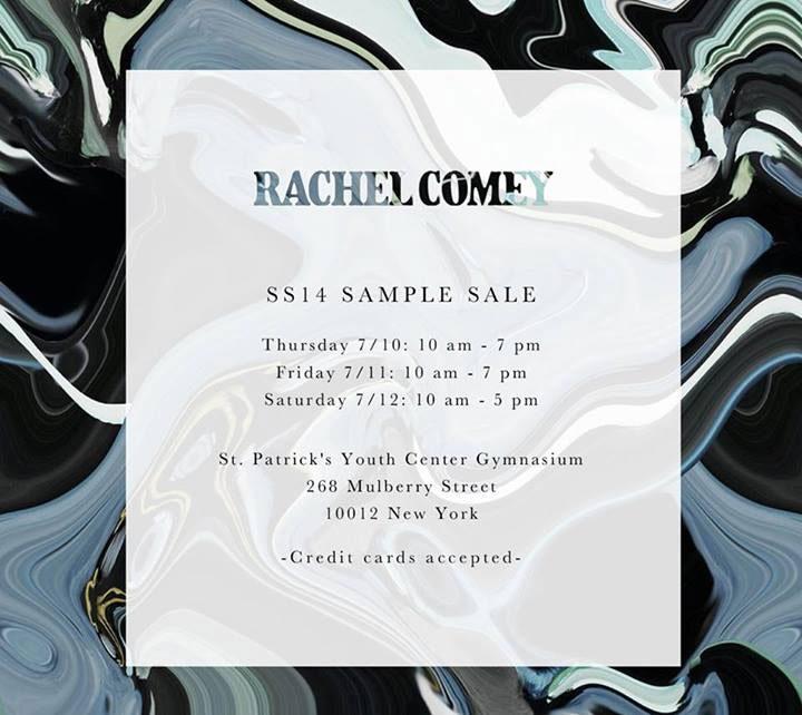 Rachel Comey Sample Sale