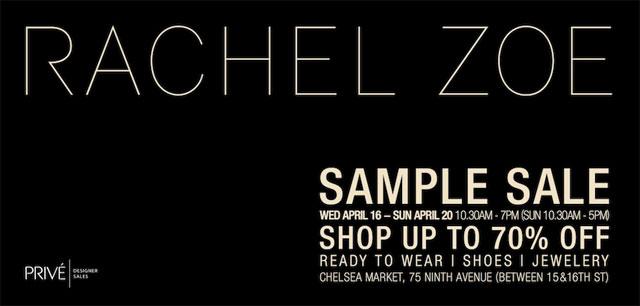 Rachel Zoe Sample Sale