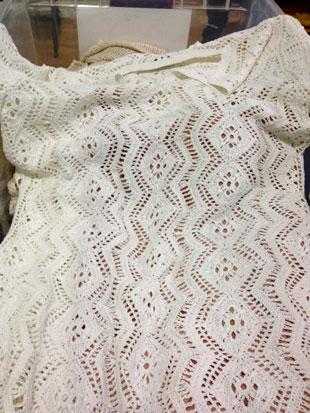 Rachel Zoecream sweater dress with nude lining ($100)